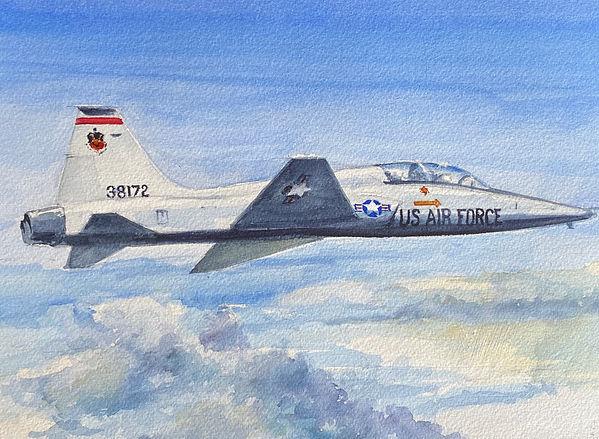 T-38 (9x12 Watercolor)