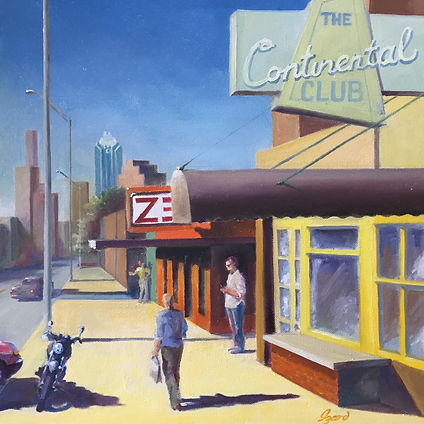"""The Continental Club"" OIL (16 x 24) - Private Collection"