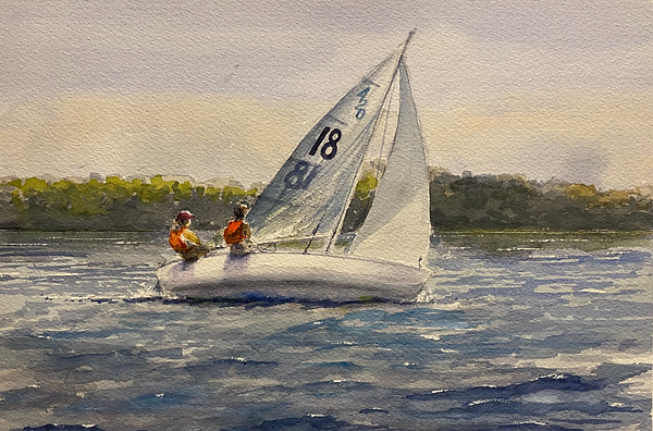 420 on the Toms River (9 x 12 Watercolor)