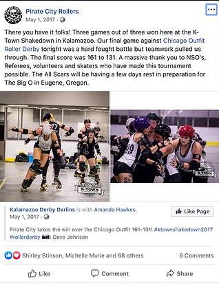 Pirate City Rollers K-town 2017