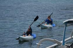 Explore in the villa's kayaks