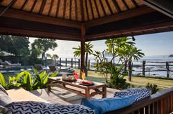 Relaxing outside at Villa Cocoa Maya