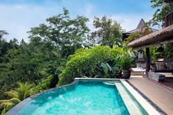 Infinity pool at Villa Sagitta Ubud