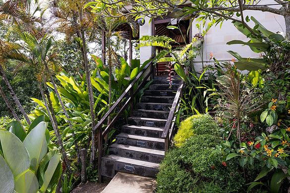 Villa Sagitta, Ubud, Bali, steps leading to the Joglo Suite.jpg