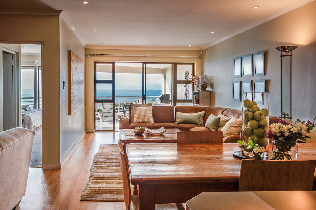 Spacious living room at The Lookout