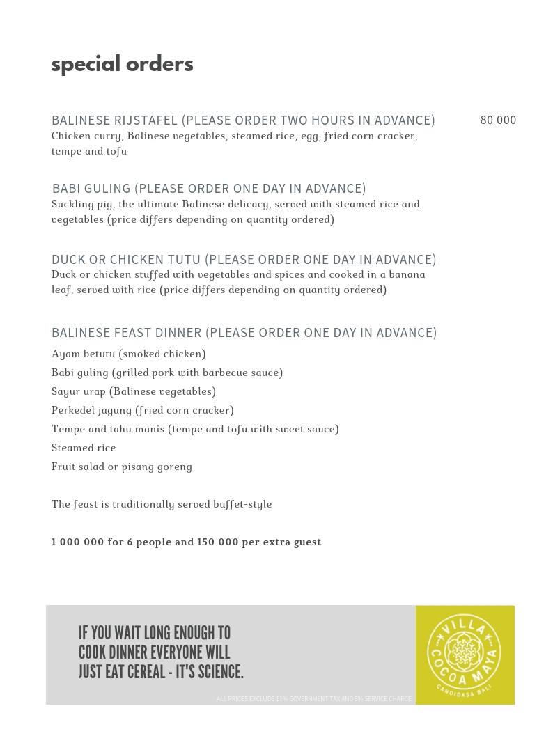 Villa Cocoa Maya menu special orders.jpg