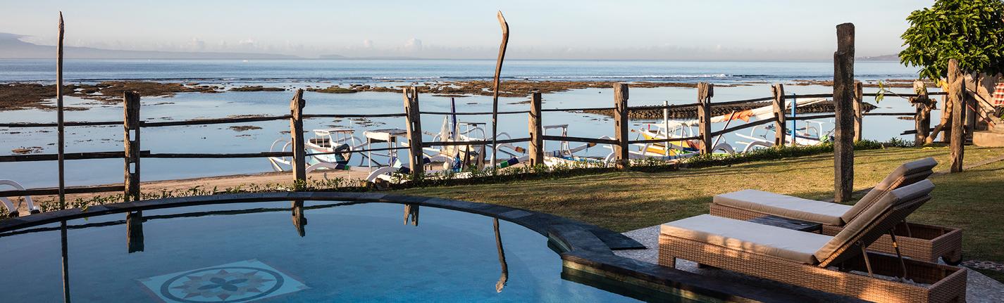 Infinity pool with ocean views Bali