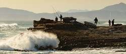 Excellent land-based & sea fishing