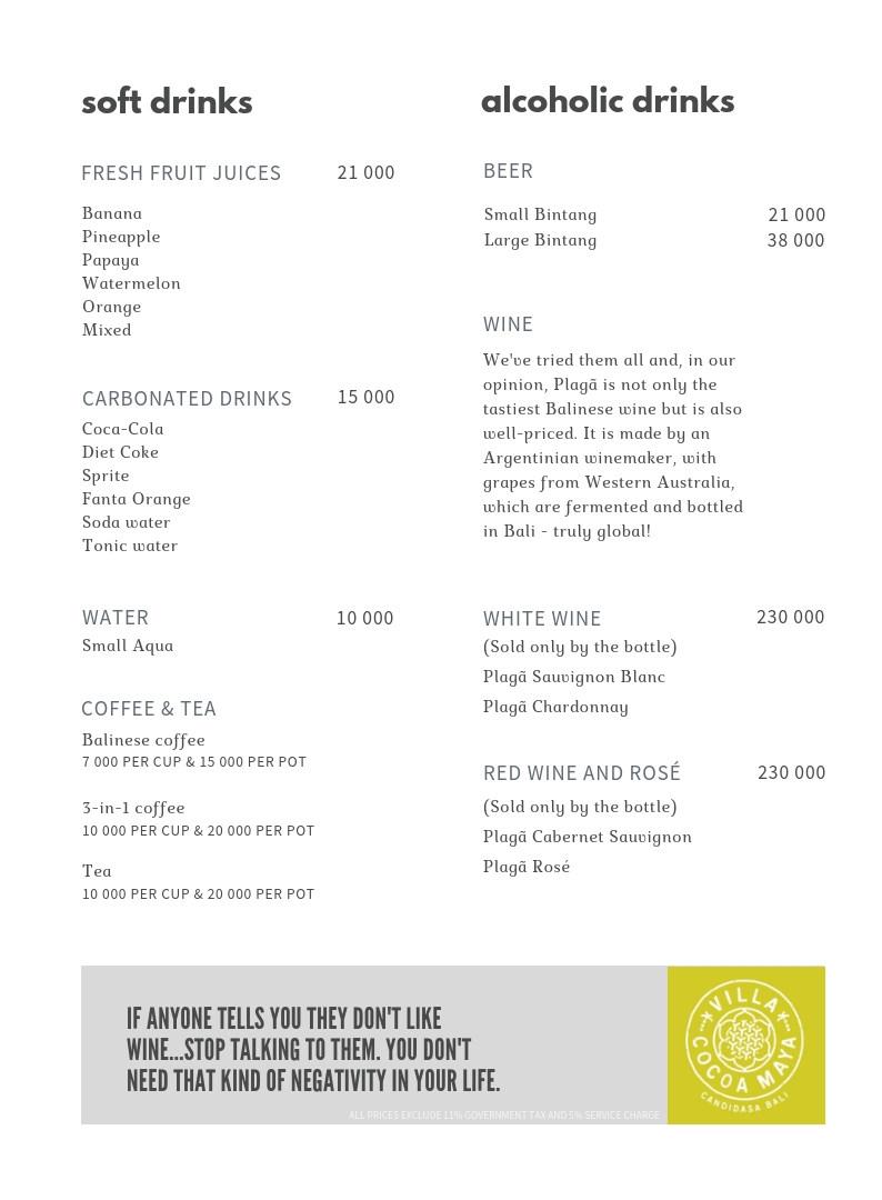 Villa Cocoa Maya menu drinks.jpg