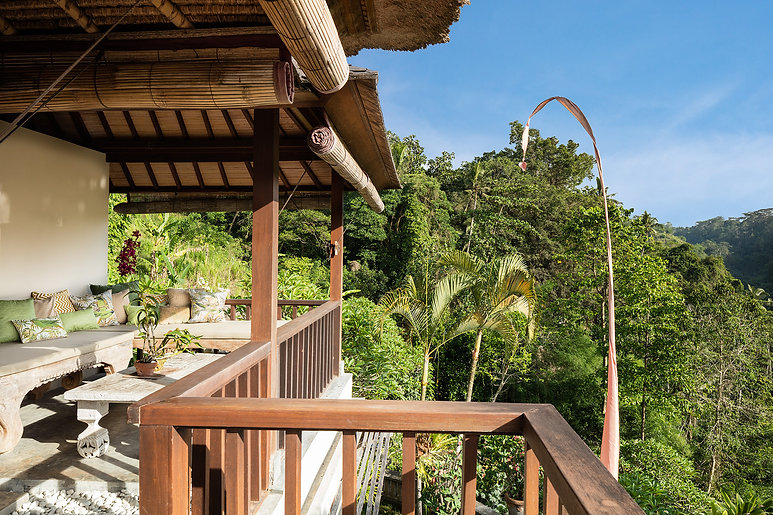Copy of Villa Sagitta, Ubud, Bali, The magnificent views from the main upstairs bedroom an