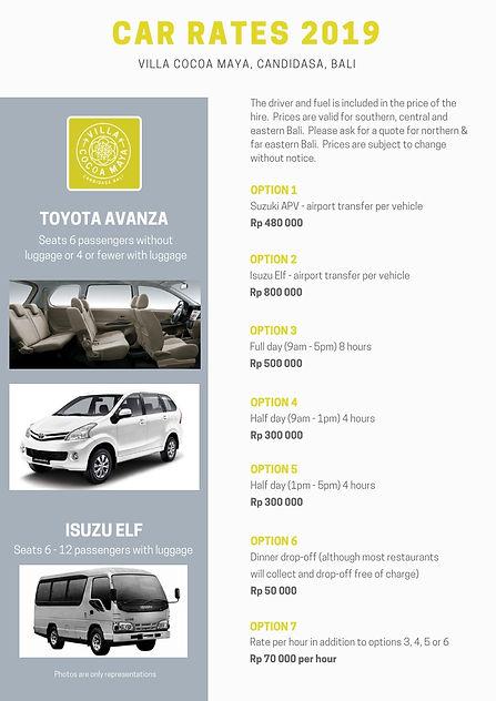 Car rates Villa Cocoa Maya 2019.jpg