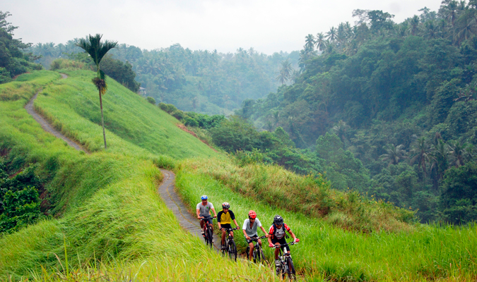 Take a cycling tour past the villa