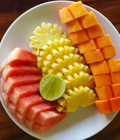 Delicious fresh fruit platters