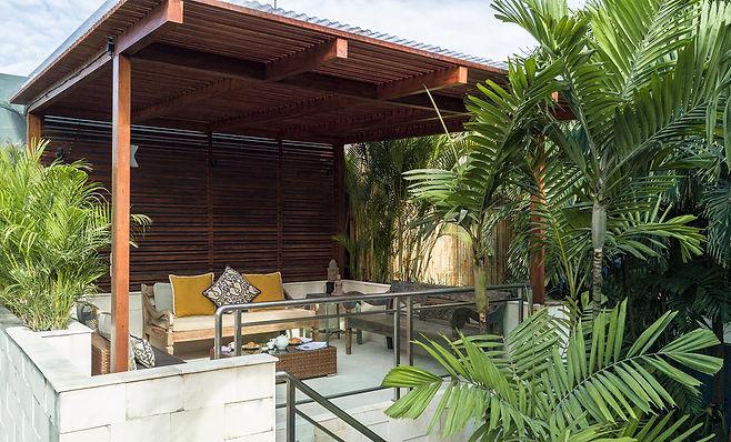 Villa Bebek relaxing with coffee in the bale.jpg