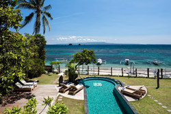 Villa Cocoa Maya, Candidasa, Bali, view across to Nusa Penida & the small islands which have excelle