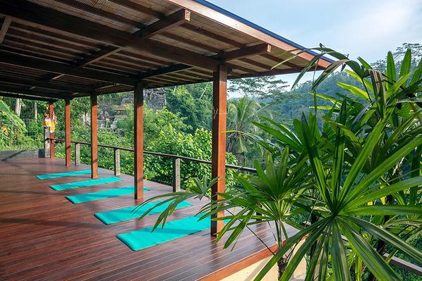 Villa Sagitta yoga deck for 12 people