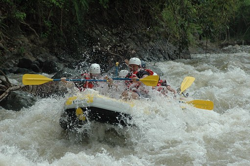 Adrenalise with white water rafting
