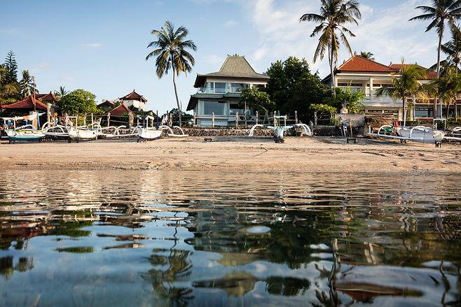 Villa Cocoa Maya, Candidasa, Bali, incredible snorkelling right here in a wonderfully warm