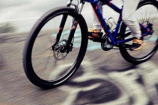 Mountain bike on the estate