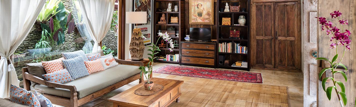 Living room at Villa Sagitta, Ubud
