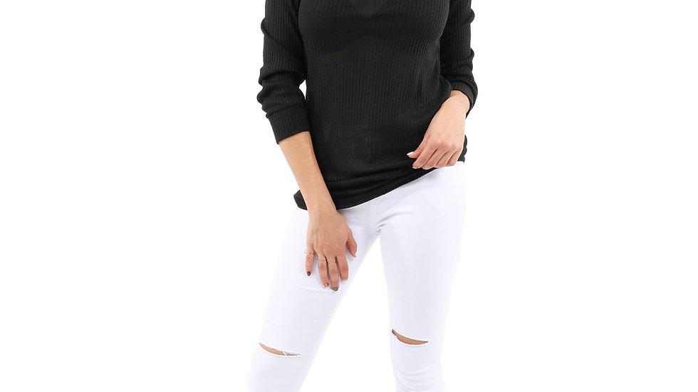 White Slit Knee Denim Jeans