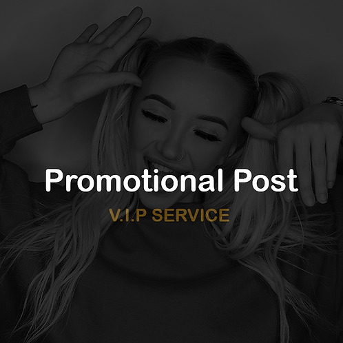 Dedicated promotional post(Brand,Product or social)