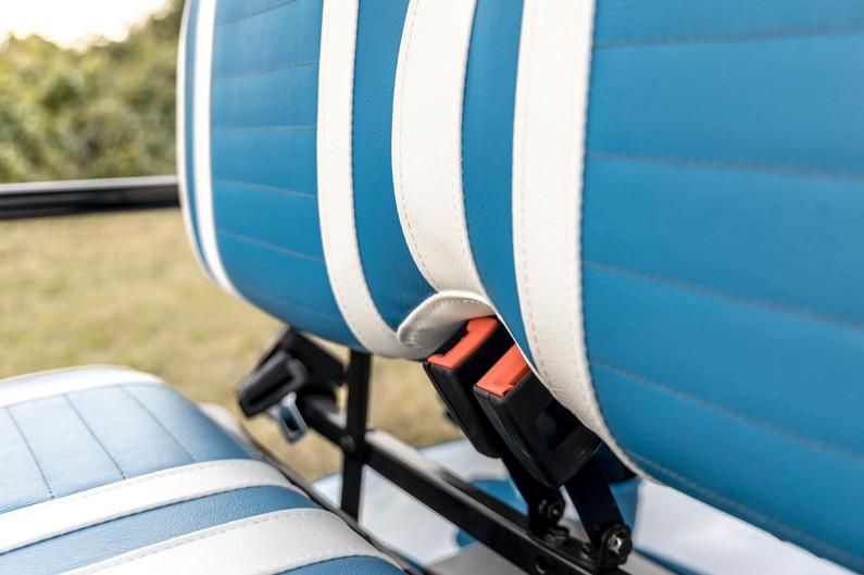 Seat Belts on Caribbean Blue Golf Cart