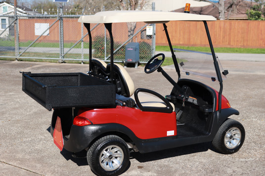 Red Club Car Precedent with MJFX Cargo Bed