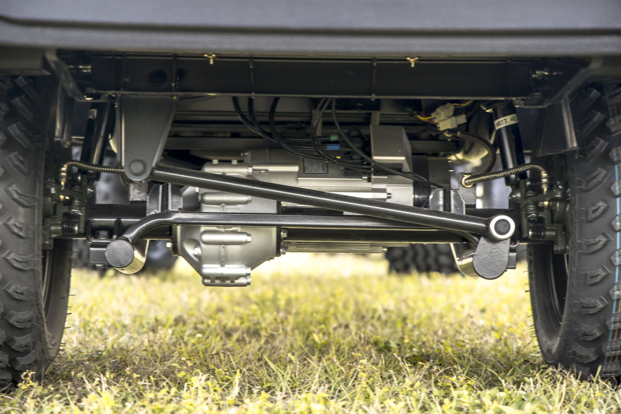 Undercarriage of ICON Golf Cart