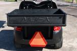 Club Car Precedent, 2 Passenger, Red, MJFX Cargo Bed, Caution Triangle