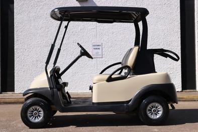2016 Club Car Precedent, 2 Passenger, Beige, Standard Golf Tires, Windshield