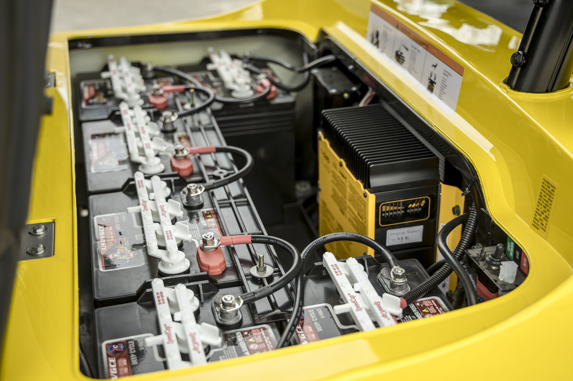 Yellow ICON Golf Cart Battery Pack