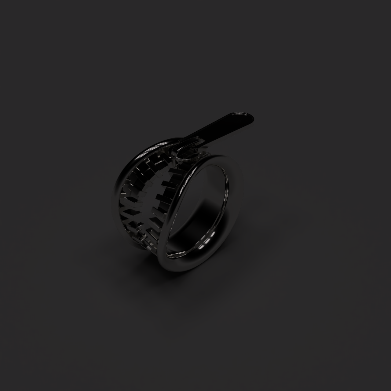 Slide Zipper Ring / 縫合