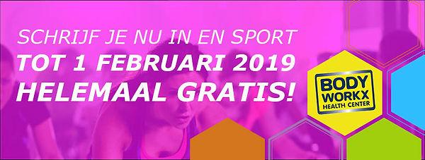 Sport tot 1 februari 2019 gratis