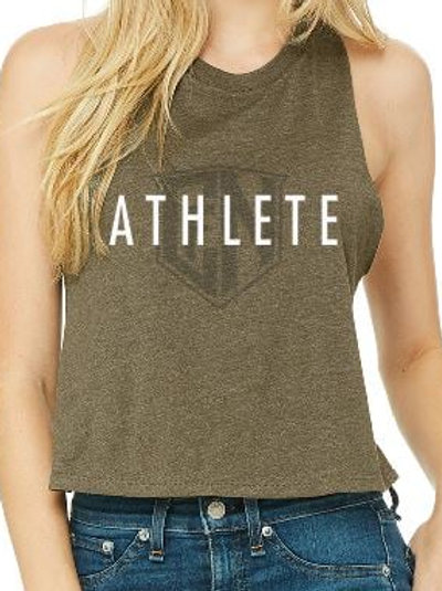 Olive Athlete Sleeveless Crop
