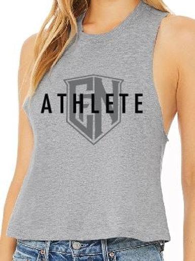 Heather Grey Athlete Sleeveless Crop