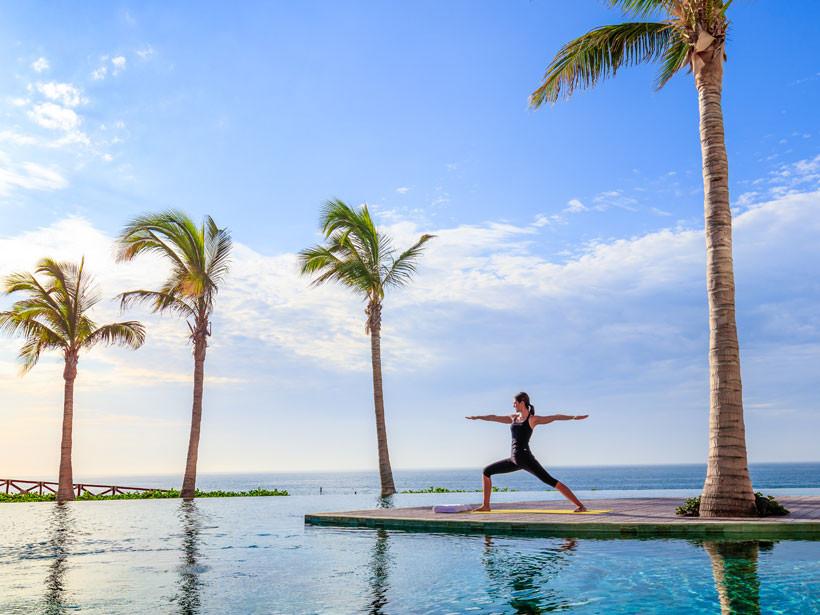 Yoga at Grand Velas Resort