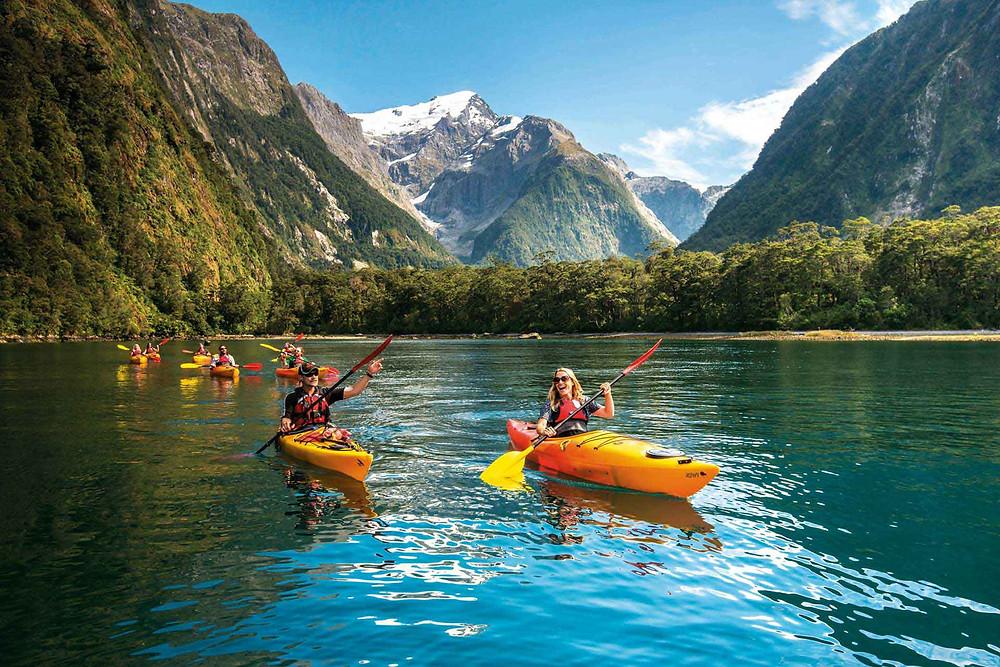 Kayaking Milford Sound, NZ