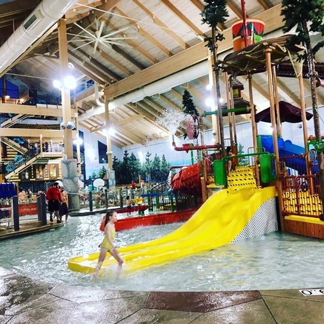Water park on the left - better for older kids.