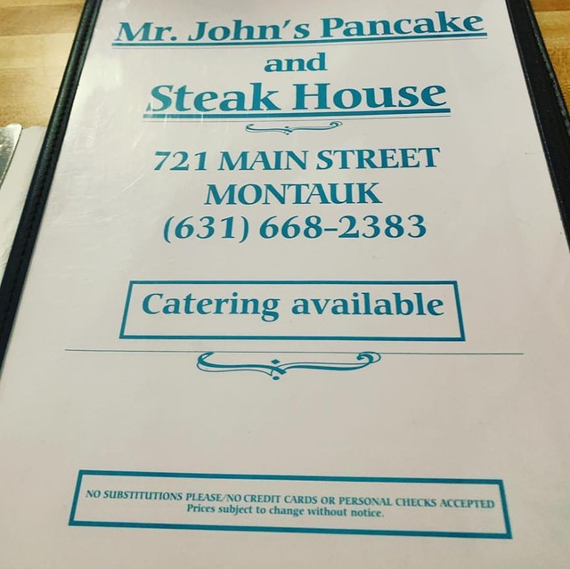 Mr John's Pancake menu