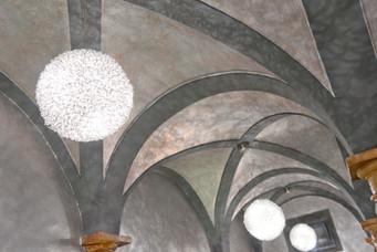 Particolare soffitto sala La Greppia.