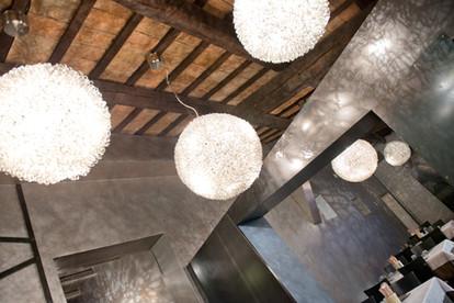 Ingresso ristorante con particolare soffitto Sala Montaletto