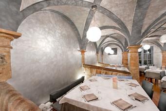 Particolare in muratura sala La Greppia.