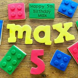Fondant Lego Birthday Biscuit Cookie