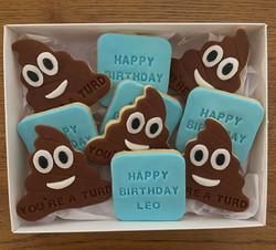 Fondant Emoji Poo Biscuit Cookie