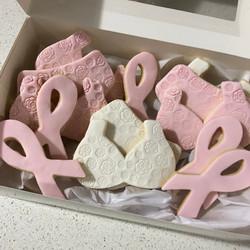 Fondant Pink Bra Undies Cancer Biscuit Cookie