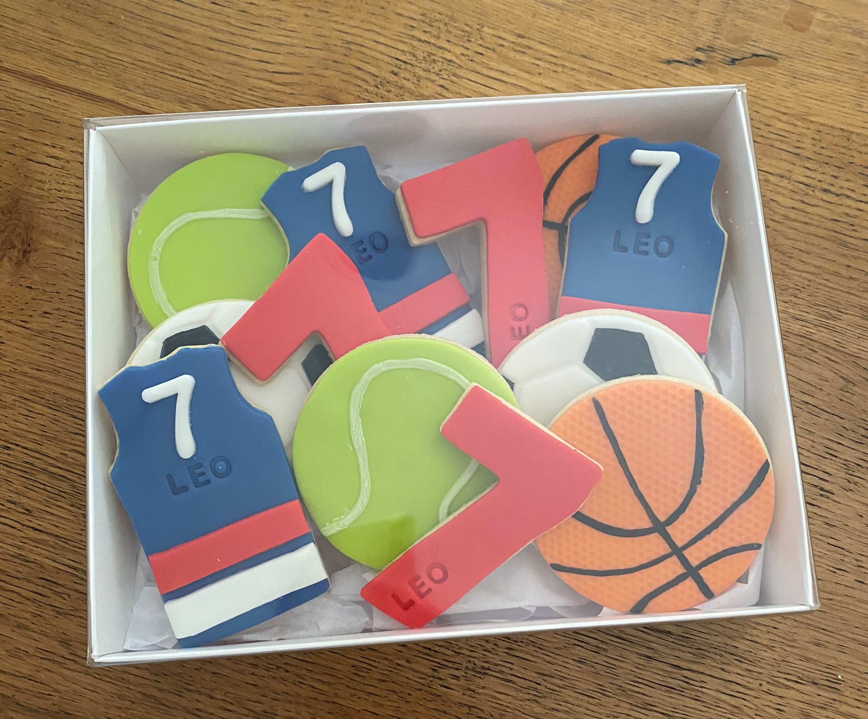 Fondant Sport Ball Number Biscuit