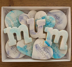 Fondant Marble Mum Biscuit Cookie