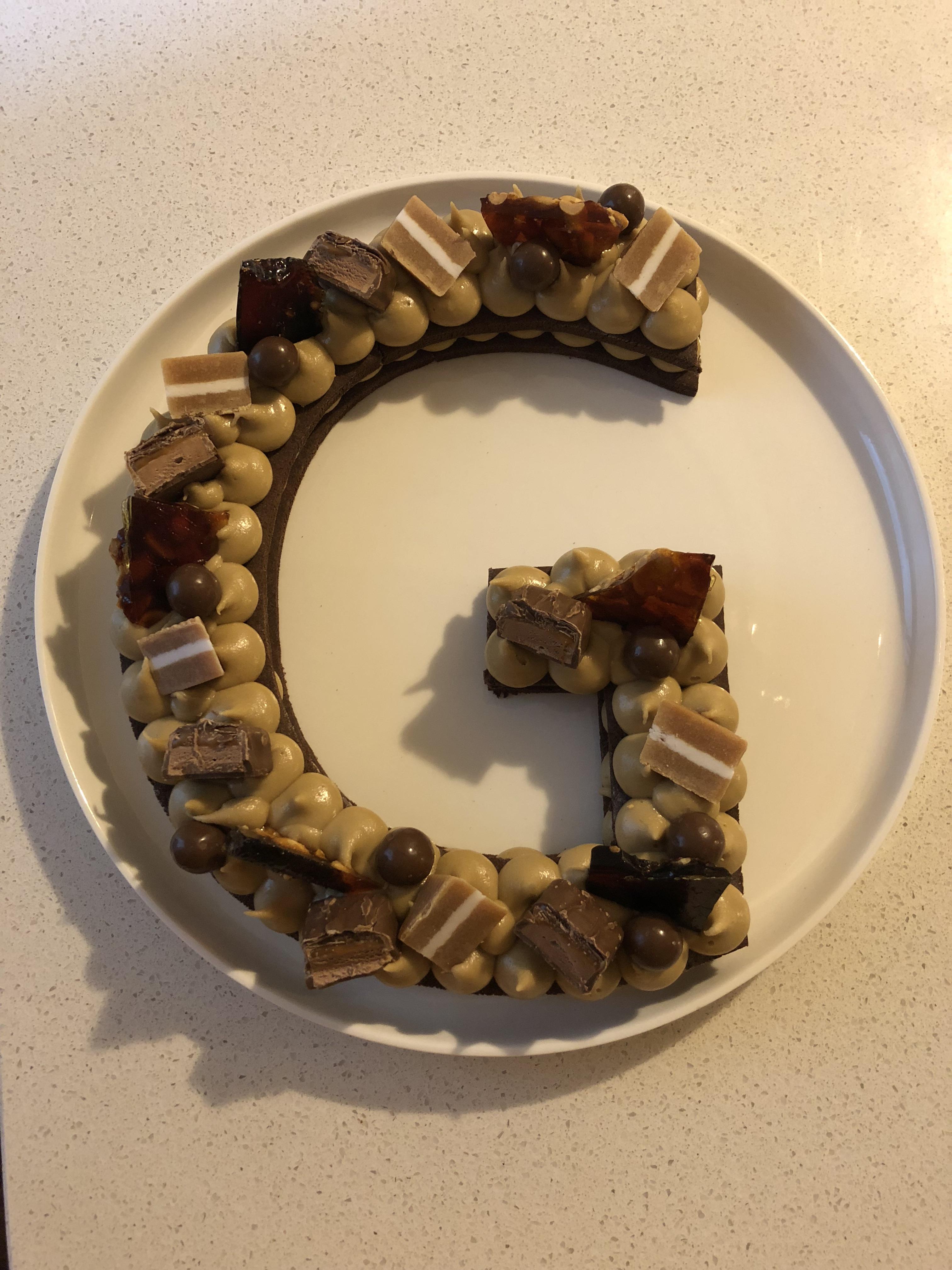 Choc Caramel Biscuit Cake