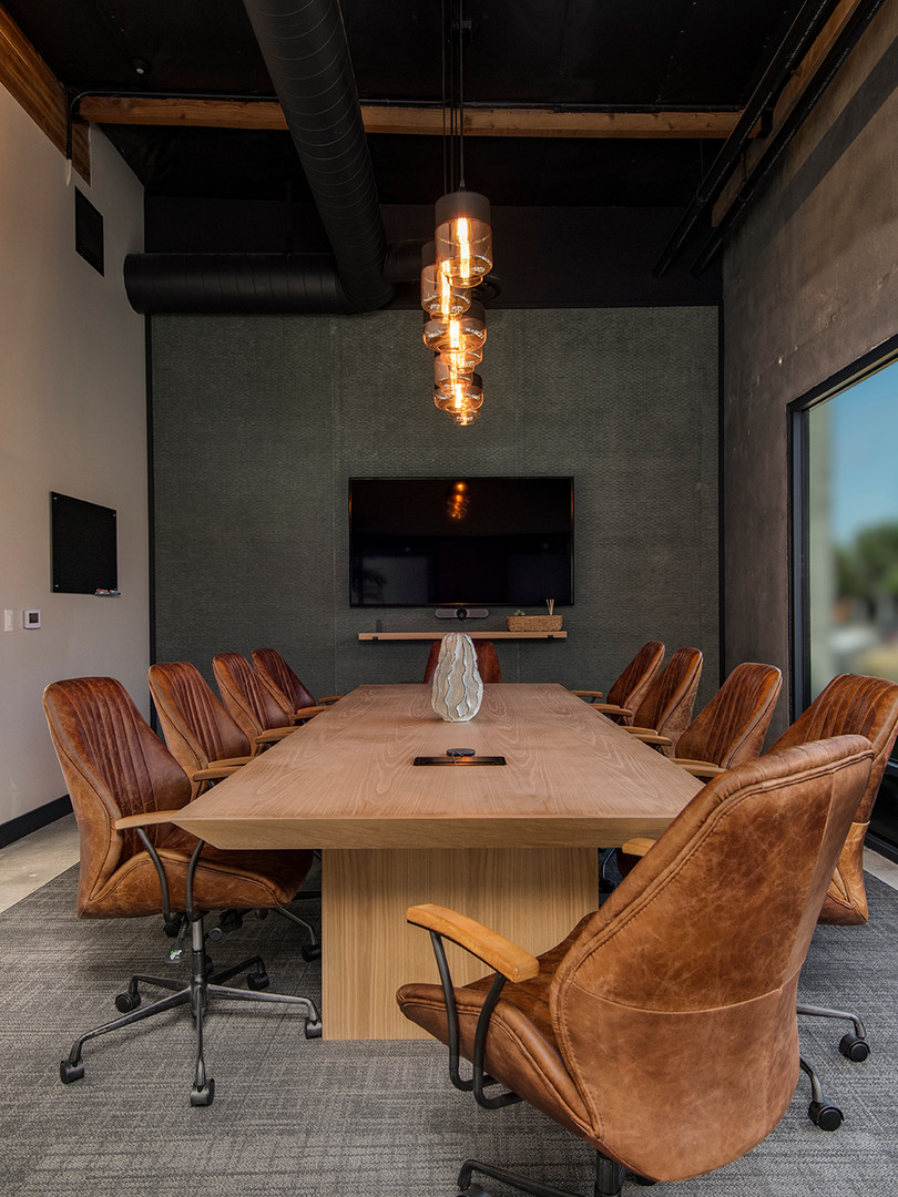 Our large conference room comfortably accommodates up to 12 people